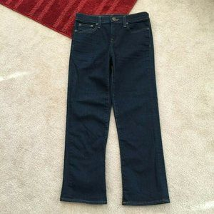 J. Crew 26 Vintage Cropped Capri Denim Jeans